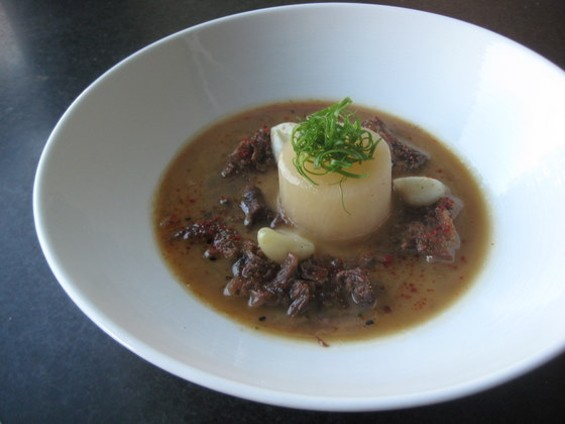 Braised oxtail with daikon and garlic, $16. - MISA ARNBERGER