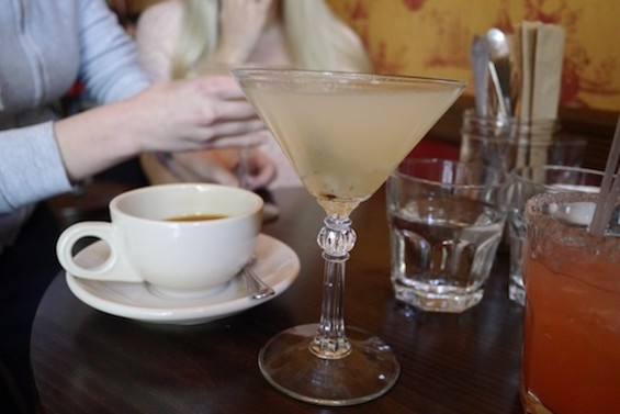 Breakfast Martini, with gin, pear juice and rosemary