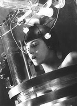 Brigitte Helm as Maria in Metropolis.