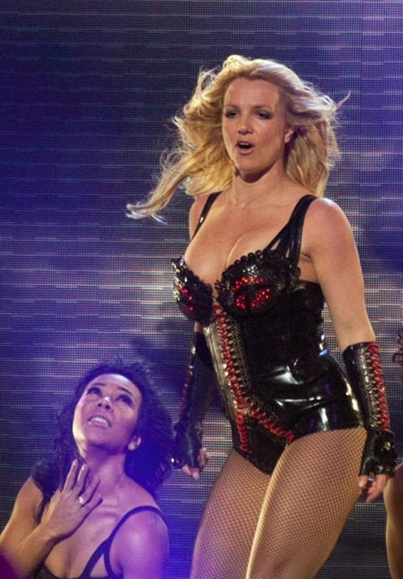Britney at Bill Graham Civic yesterday. Photos by Joseph Schell.