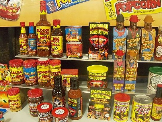 Bro-dacious fire: Line of Whoop Ass grilling sauces. - MARY LADD