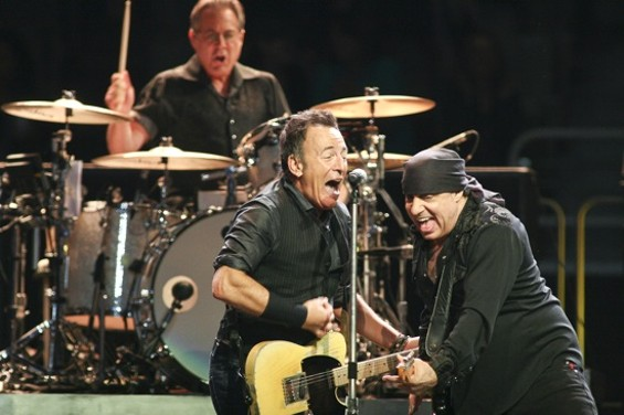Bruce Springsteen in San Jose last night. - CHRISTOPHER VICTORIO