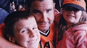 Bryan Stow with his two kids