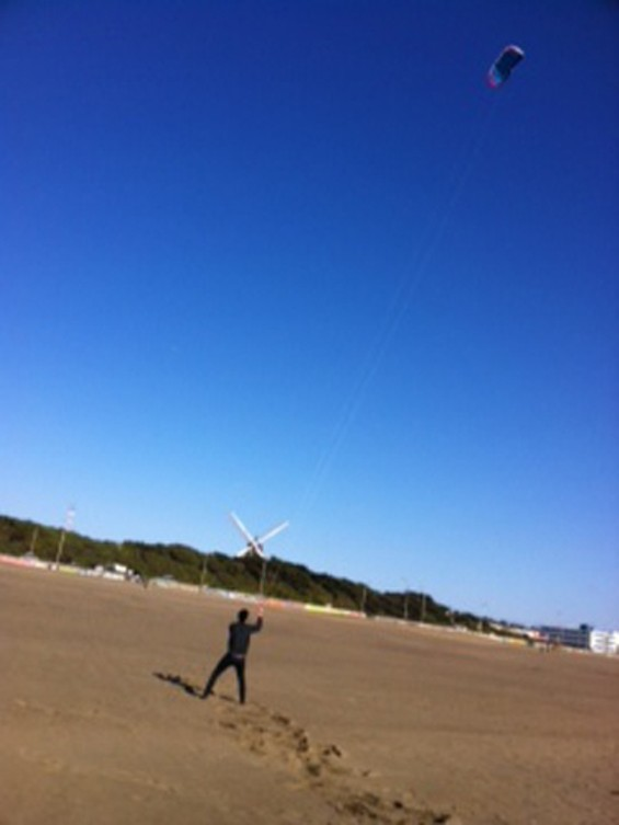 Buckland flying kites at Ocean Beach