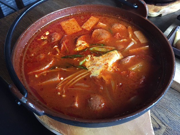 Buddae jiggae (army stew) - PETER LAWRENCE KANE