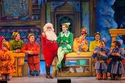 AMY BOYLE PHOTOGRAPHY - Buddy (Eric Williams) and the gang in Elf the Musical.