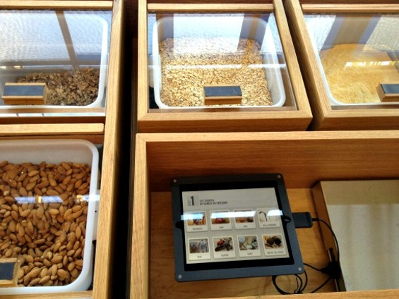 Bulk ingredients have an exclusive iPad app for easy labeling. - ANNA ROTH
