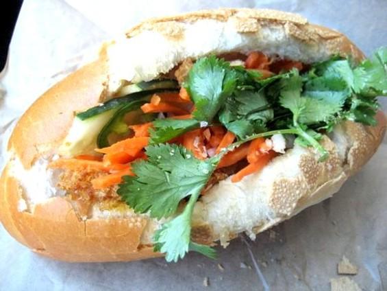 Bun Mee's crispy catfish sandwich, $7.95. - JONATHAN KAUFFMAN