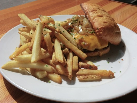 Burger and fries. - ALEX HOCHMAN