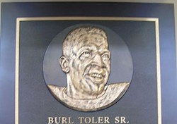 Burl Toler's plaque at the Bay Area Sports Hall of Fame