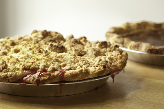 Butter Love Bakeshop's apricot-cherry and butter pies. - KIMBERLY SANDIE