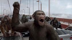 Caesar leads his ape army into San Francisco.