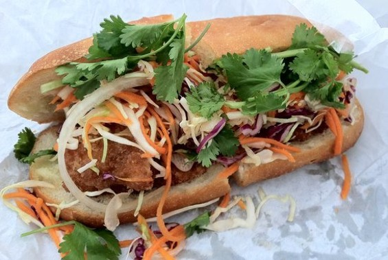 Cafe Bunn Mi's sole sandwich: Not the same as Bun Mee's. - JONATHAN KAUFFMAN