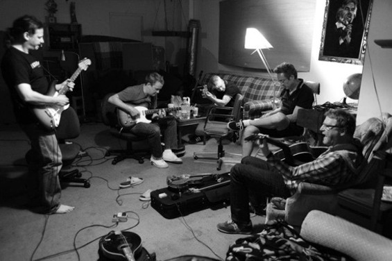 Camper Van Beethoven recording in Oakland. - MYLES BOISEN VIA FACEBOOK