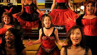 Candace Roberts and her anti-gentrifying chorus line. - DAMIAN LUCAS