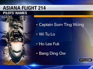 Captain Wi Soo Yoo was reportedly not on the plane