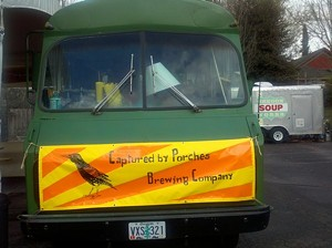"""Captured by Porches Brewing Co. calls the truck a """"mobile pubhaus."""" - BRIAN YAEGER"""