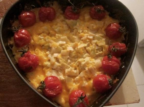 Carina's cheesy heart dip.
