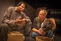 MARK LEIALOHA - Carl Lumbly and Rod Gnapp narrate through Sam Shepard's stories, the cutline said.