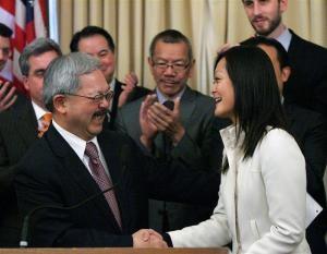 Carmen Chu is movin' on up - MIKE KOOZMIN       SAN FRANCISCO EXAMINER