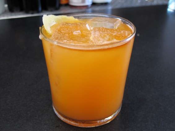 Carrot and ginger based Beta test cocktail - LOU BUSTAMANTE