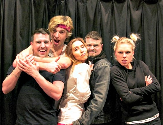 """Cast of """"The Altruists"""" from left to right: Ronald Walker, Lance Kunze, Sydney Whipple, Ethan Bedillion and Cybil Ingland - COURTESY OF JULIA LIENKE"""