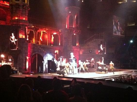 Castle Gaga at HP Pavilion last night.