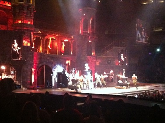 Castle Gaga at HP Pavilion last night.