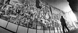 PAOLO  VESCIA - CCSF's cramped Diego Rivera Theater is a - less-than-ideal venue for a mural of nearly - 1,800 square feet.