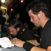 High On Fire at Amoeba Records, SF CD purchasers got a free seven-inch and a chance to say hi to the band. By David Downs
