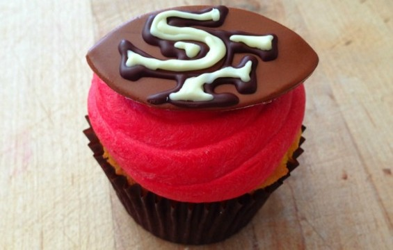 Celebrate with a 49ers cupcake at Baker & Banker.