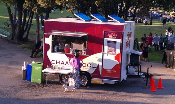 Chaac Mool's trailer in Dolores Park. - DOLORES PARK WORKS/FLICKR