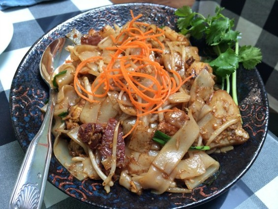 Char Kway Teow (flat rice noodles stir-fried with shrimp, Chinese sausage and egg) - PETE KANE