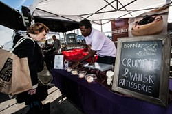 Charles Farrier occasionally pops up at the Saturday Farmers Market selling his Crumble & Whisk cheesecakes. - THE DAPPER DINER