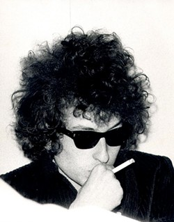Charles Gatewood's 1966 portrait of Bob Dylan.