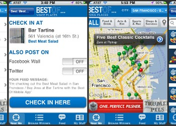 Check Out and Check In with Our Best Of... App