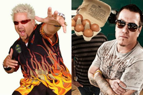 Chef Guy Fieri and Smash Mouth lead singer Steve Harwell: together at last.