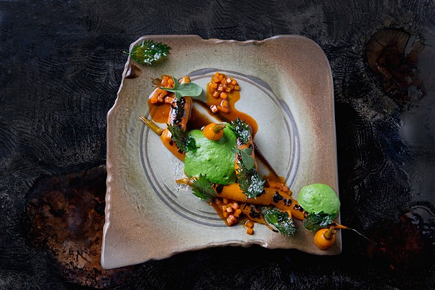Chef Sean Baker turned a simple carrot dish into something sublime. - CARMEN TROESSERA