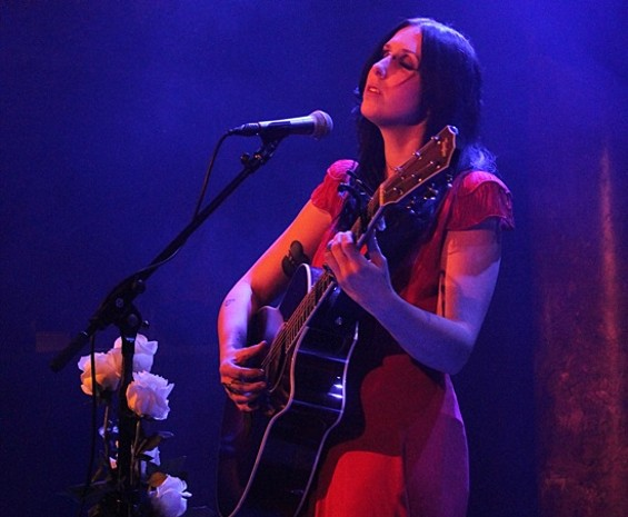 Chelsea Wolfe performing at Great American Music Hall on Friday. All photos by Amelia Sechman - AMELIA SECHMAN