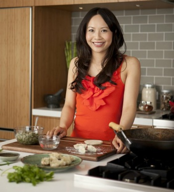 Ching-He Huang in the studio kitchen - COOKING CHANNEL