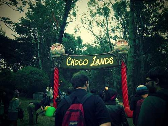 Choco Lands, a forest of dessert, returns to this year's Outside Lands. - FLICKR/FORMASICKUND