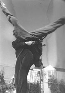 "ADRIANE  COLBURN - Choreographers Dominique Zeltzman and Selene Colburn turn dance upside down in ""The Stomach Never Lies."""