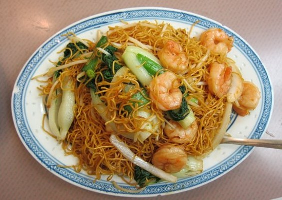 Chow mein from Chinatown's congee king, Hing Lung. - W. BLAKE GRAY