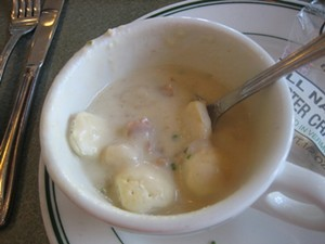 Chowder with the requisite richness. - M. LADD