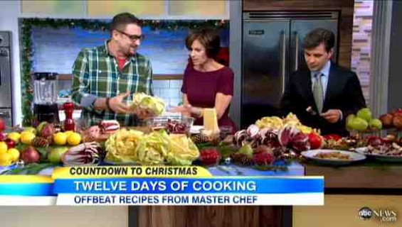 Chris Cosentino on Good Morning America on December 20. - ABC
