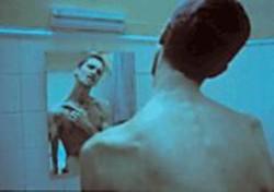 NICOLAS  GELLAR - Christian Bale as cadaverous industrial - worker Trevor Reznik.