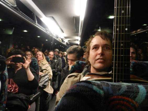 Chuck Prophet on the bus last night. More photos after the jump.