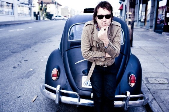"Chuck Prophet performs ""Temple With Strings"" at the Great American Music Hall Nov. 24. - CHARLIE HOMO"