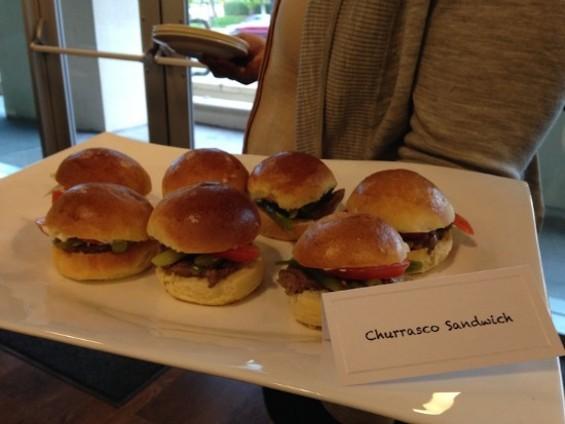 Churrasco sandwich. - OMAR MAMOON