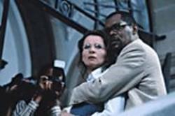 "KAREN ""BLID"" ALSBIRK - Cipher Love: There's no chemistry between - Anna (Juliette Binoche) and Langston - (Samuel L. Jackson)."